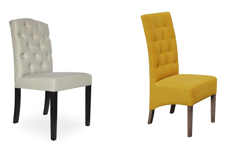 Jedálenské stoličky Marissa a Wanda, moderná jedáleň