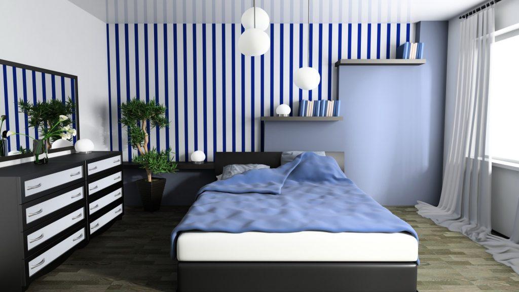 Moderna spalna farby v spalni