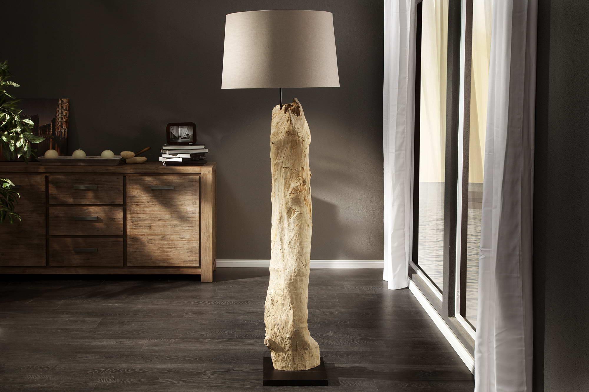Luxusná stojanová lampa Stump béžová