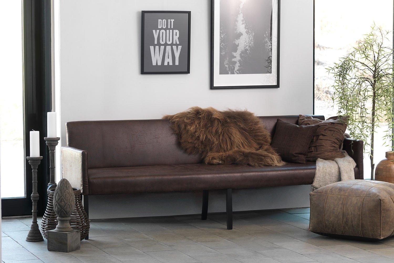 Dizajnová pohovka Bella 240 cm / tmavo hnedá
