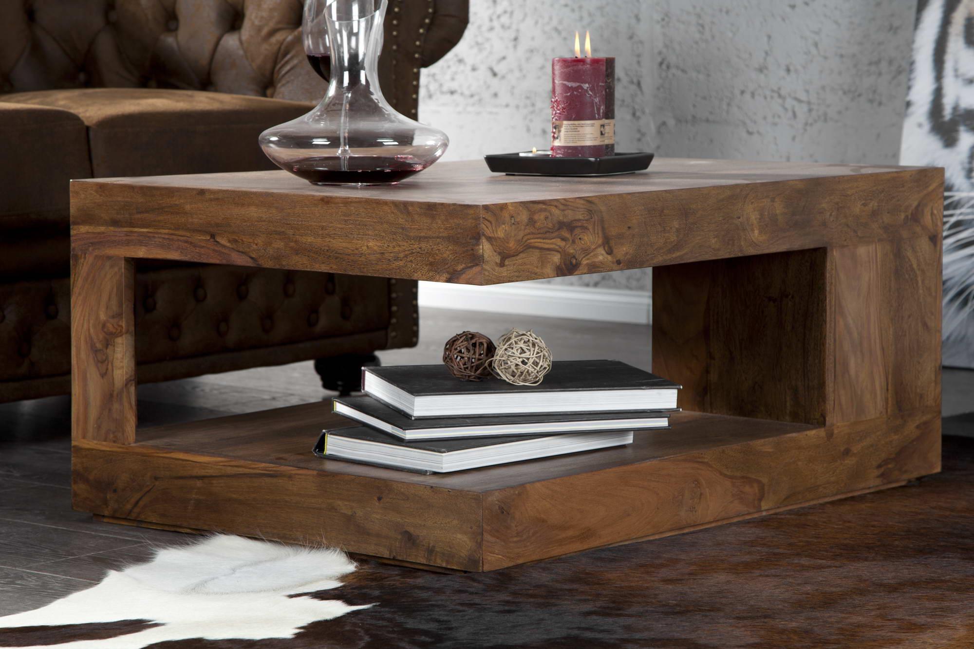 Konferenčný stolík z masívu Jumbo L z dreva