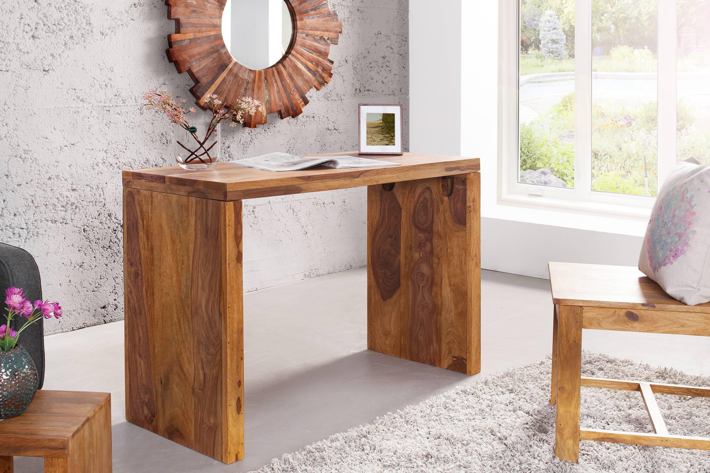 Písací stolík Elegant Honey z dreva