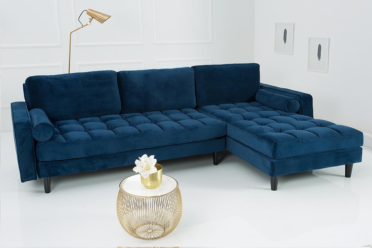 S extravagantnou sedačkou Adan získate skutočný dizajn vo vašom dome! Dva okrúhle dekoratívne vankúše a starostlivo prešívaný povrch sedákov poskytujú rohovej pohovke ušľachtilý vzhľad. Kvalitné zamatové čalúnenie v kombinácii s pružinovým jadrom poskytujú vysoký užívateľský komfort. Čalúnený chrbát vám umožní umiestniť sedačku aj do priestoru. Vďaka obojstrannému použitiu si ju viete prispôsobiť presne podľa svojich potrieb.
