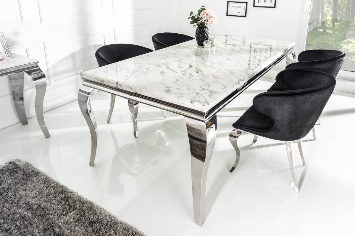 Dizajnový jedálenský stôl Rococo 180 cm mramor