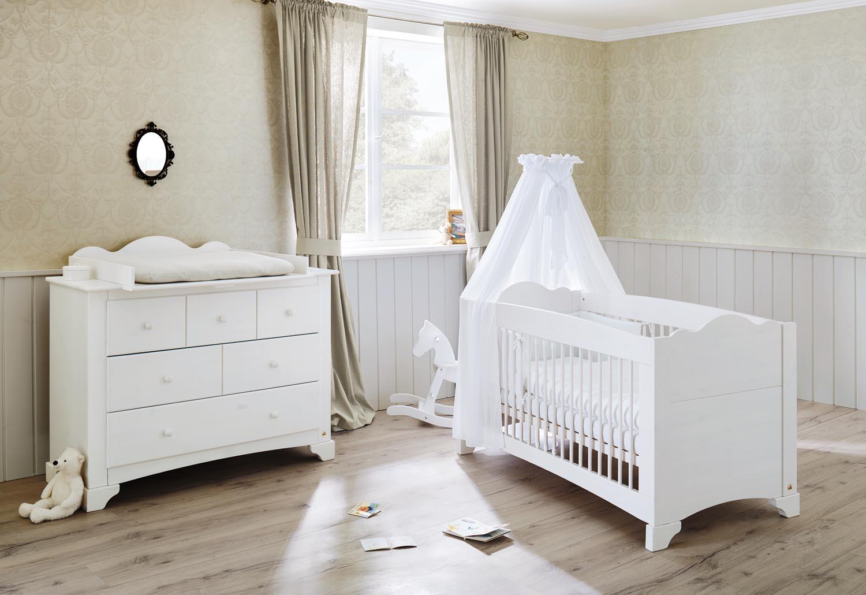 Detská izba a Komoda s prebaľovacím pultom PINO