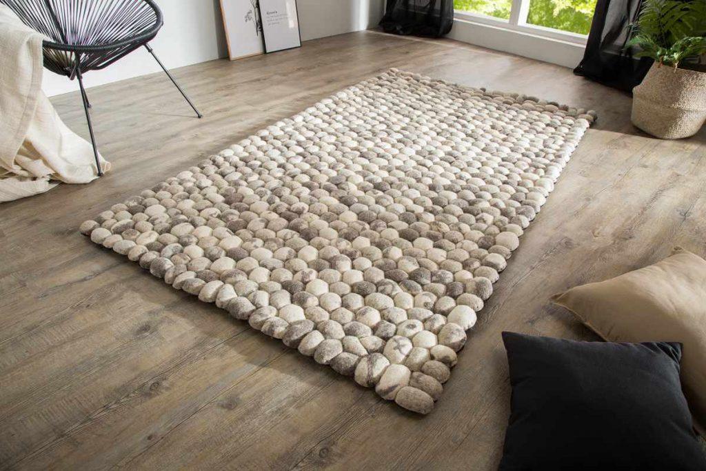 Dizajnový koberec Jayda 200x120 sivá plsť