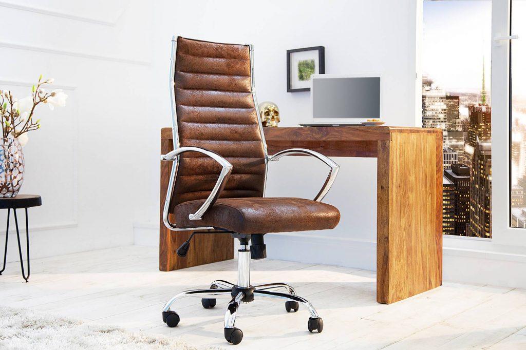 Kancelárska stolička Boss Vintage hnedá