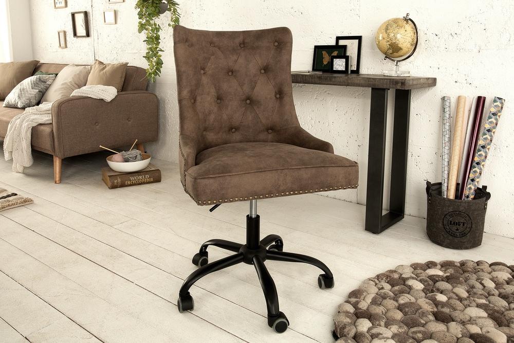 Kancelárska stolička Jett svetlohnedá