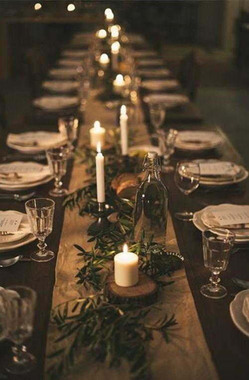 Vianočný jedálenský stôl