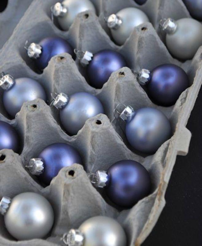 vianočné dekorácie a uskladnenie