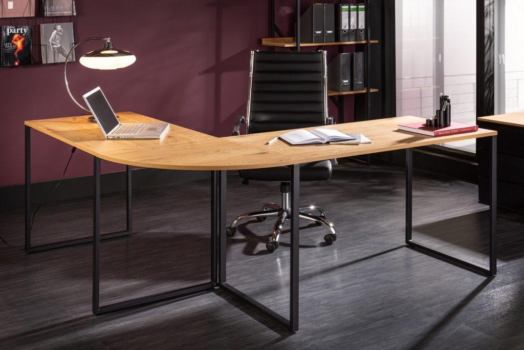 drevený rohový písací stôl