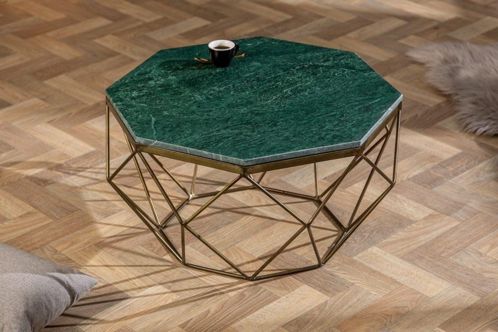 okrúhly konferenčný stolík - smaragdový