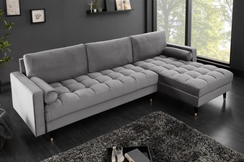rohová sedačka sivá